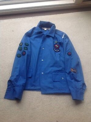 Vintage 1970's numerous Girl Guide badges on Uniform incl Eight Point Badge