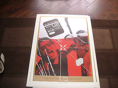 U2.elevation Live From Boston.lithograph Poster Mint