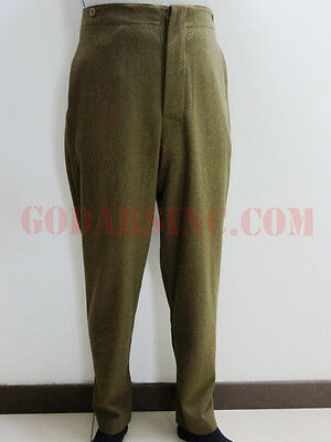 WW1 Canadian Army Brown-green Wool Servie Dress SD trousers L