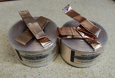PAIR ALPHA-CORE .39mH AWG14 COPPER FOIL INDUCTOR FOR AUDIO