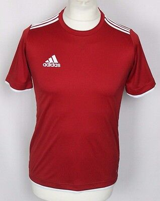 'paul' Red Adidas Climalite Football Shirt Rare Youths Large 13-14 Years