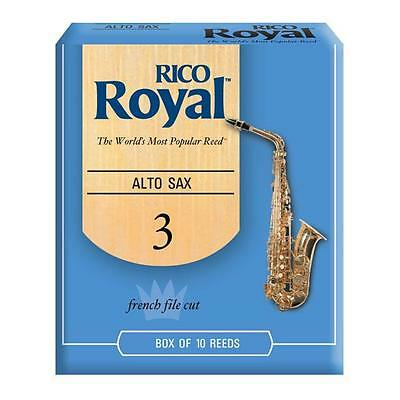 Rico Royal Alto Saxophone Reeds Box of 10 Reeds Strength 3 Brand New