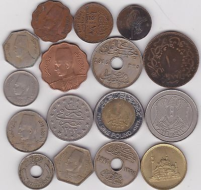 16 Coins From Egypt In Various Grades