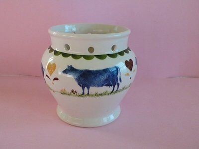 Wood And Sons Pottery Jacks Farm Pot Made In England Cow Hen Sheep Pig