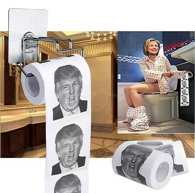 Trump Humour Toilet Paper Roll Novelty Funny Gag Gift Dump with Trump