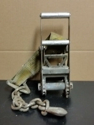 """3"""" Ratchet Strap Anchor End with Chain End"""