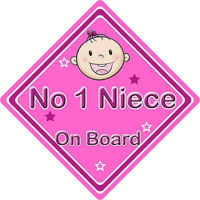 Non Personalised Child//Baby On Board Car Sign ~ Our Nephew On Board ~ D.Blue