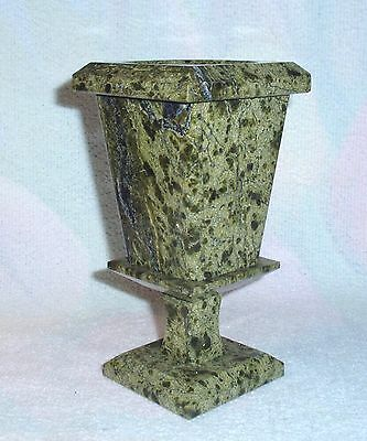 Vase made of natural Russian serpentine stone 14 cm