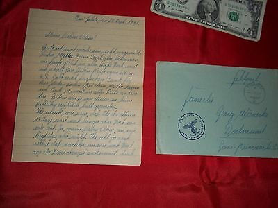 German Non Military Wwii   Hitler    Postcards  Envelope Letter  Real 1941