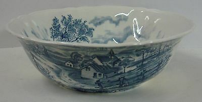 """Alfred Meakin REVERIE BLUE 9-1/4"""" Round Vegetable Bowl"""