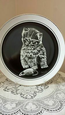 My Favorite Toy Droguett Kittens World Cat Collector Plate 1979 Royal Cornwall
