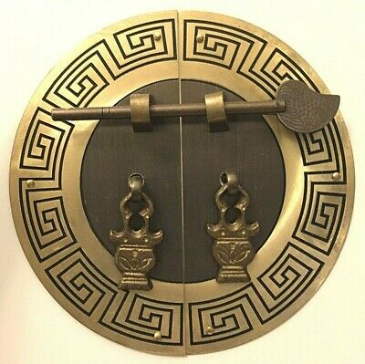 New Chinese Brass Face Plate Door Pull Furniture Hardware for Cabinet
