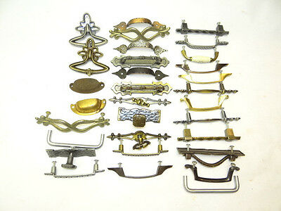 Antique & Vintage Lot Used Old Dresser Stove Drawer Pulls Handles Parts Hardware