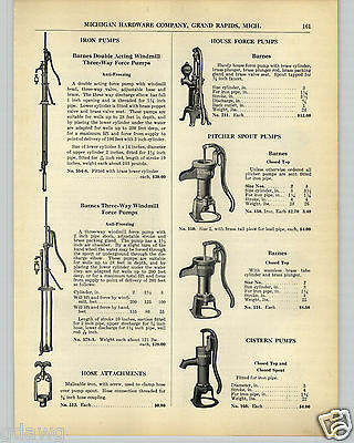 1936 PAPER AD Barnes Pitcher Water Spout Pump House Force Hand Power
