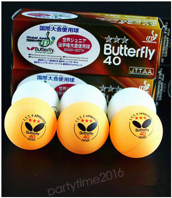 6 Pcs Butterfly 3 stars Ping Pong Table Tennis Balls 40MM Olympic Quality