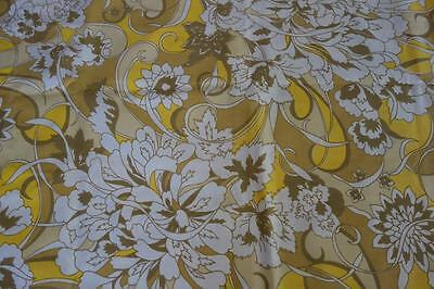 Vintage PAIR Yellow Mod Floral PILLOWCASES Standard