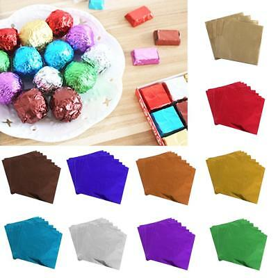 100Pcs Chocolate Candy Package Paper Aluminum foil Wrappers for Wedding 8x8cm