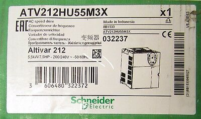 SCHNEIDER ELECTRIC ATV212HU55M3X Altivar 212 Drive Unit 200-240VAC 7.5HP