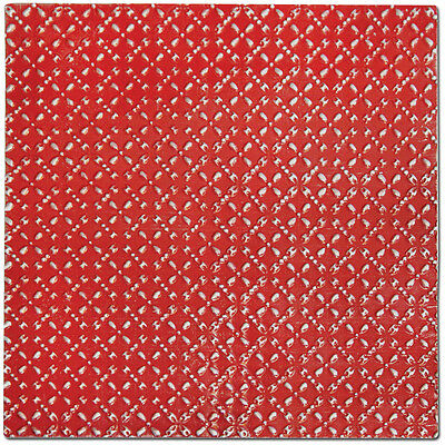 Salvaged Tin Ceiling Tile-Bright Red Diamond 700254535395