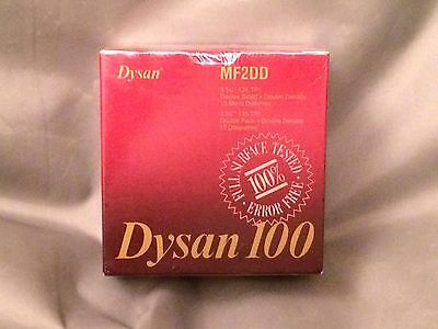 "Dysan 100 Box of 10 MF 2DD 3.5"" Floppy Disks Diskettes Double Density New Sealed"