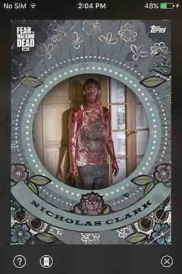 DIGITAL CARD Topps Fear The Walking Dead Dia De Los Muertos Full Set W/ Award