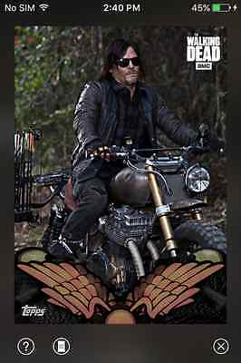 DIGITAL CARD Topps The Walking Dead Behind The Handlebars Full Red Set W/Award
