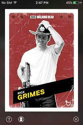 DIGITAL CARD Topps The Walking Dead Challenger Series 1-3 Full Red Set + 3 Award