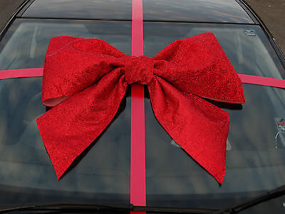 Giant Christmas Bow  Large Glitter Gift Bow  Handmade with SUPERFAST DISPATCH!!