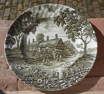 17-teiliges Tafelservice Royal Essex Ironstone green  'Shakespeares Country'