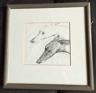 Original study of whippets by artist Whyn Lewis from The Open Eye Gallery Edin