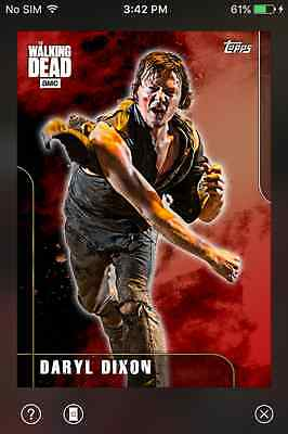 DIGITAL CARD Topps The Walking Dead Fury Series 2 Full Red Set With Award