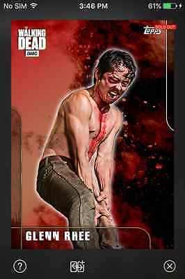 DIGITAL CARD Topps The Walking Dead Fury Series 1 Full Red Set With Award