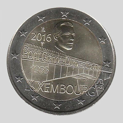 Luxembourg 2016 - 2 Euro Comm - 50 yrs of the Charlotte Bridge (UNC)