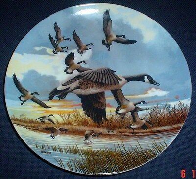 Dominion China Ltd Collectors Plate THE LANDING - Geese - Boxed