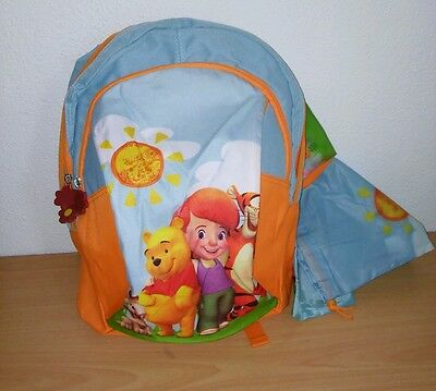 Disney Winnie the Pooh Rucksack with pencil case and gym/ swimming  School Bag