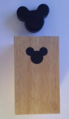 Disney Mickey Mouse Light Brown Wood Block Square Candle Holder - FREE SHIPPING