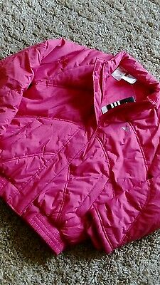 Adidas Ladies Girls Gym Jacket Pink Size 30/32 Warm Waterproof Padded Coat New