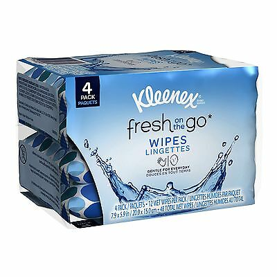 Kleenex Fresh on The Go Wipes 4-Pack 48-Count