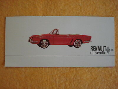 1961 Renault Caravelle Small Brochure