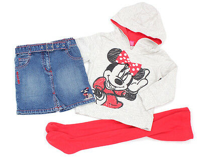 C&A DISNEY Jeans-Rock und NEXT DISNEY Kapuzensweat-Shirt Minnie Maus - 104
