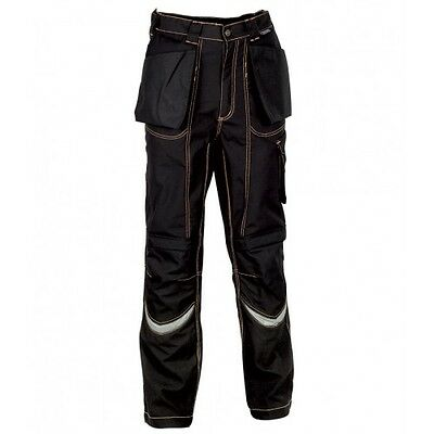 Cofra Eindhoven Workwear Holster & Knee Pocket Trousers Black Snickers Direct Pr