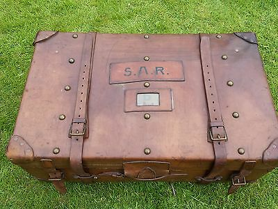 1920s Leather Steamer Trunk