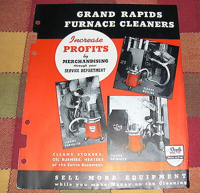 Grand Rapids Furnace Cleaners Doyle Vacuum Cleaner Brochure ca.1950's