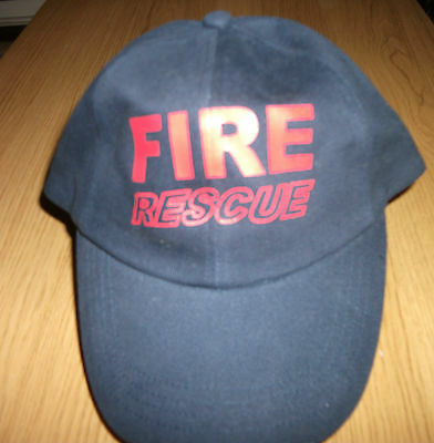 Fire Rescue Cap - Brand New, Navy Blue