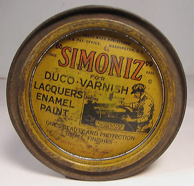 Antique Simoniz 1920's Auto Car Wax Tin