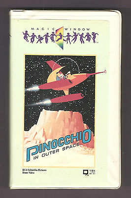 PINOCCHIO IN OUTER SPACE 1965 RCA/Columbia Pictures Home Video BIG Box clam! vhs