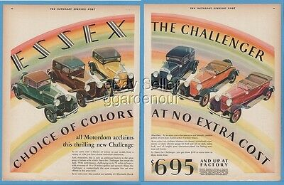 1929 Essex Challenger Rumble seat Roadster Town Sedan Coupe Phaeton Car Ad
