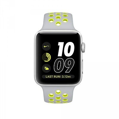 Apple Nike+ (38mm) Watch with Silver Aluminium Case and Silver Series 2