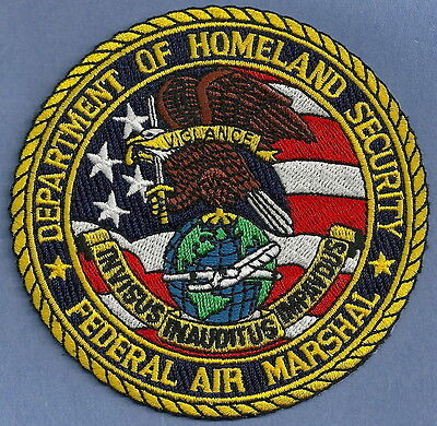 United States Federal Air Marshal Homeland Security Police Patch