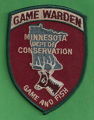Minnesota State Conservation Game Warden Police Patch